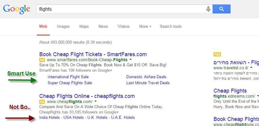 Google Sitelinks Extension