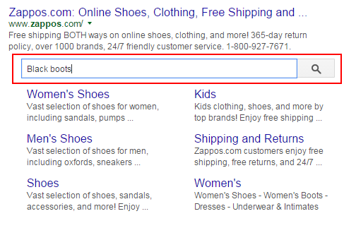 how to get sitelinks in google search results