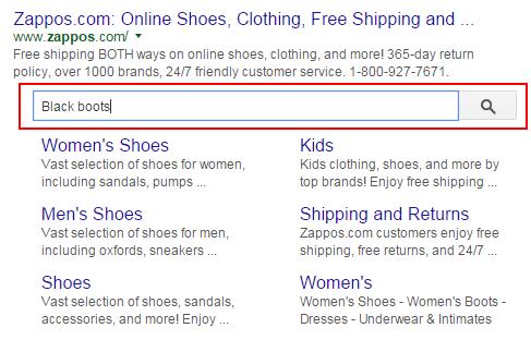 Sitelinks Search Box