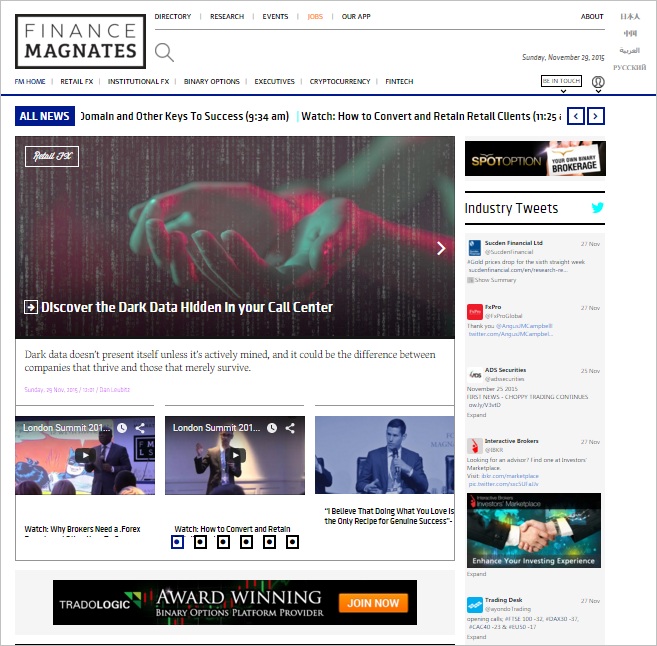 Finance Magnates Homepage
