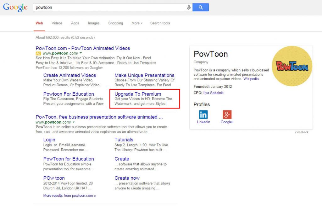 PowToon PPC Ad