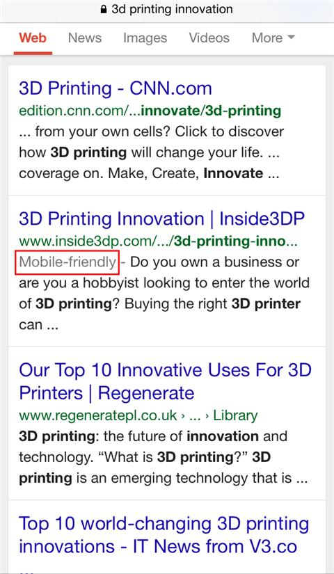 inside3dp SERP result innovation
