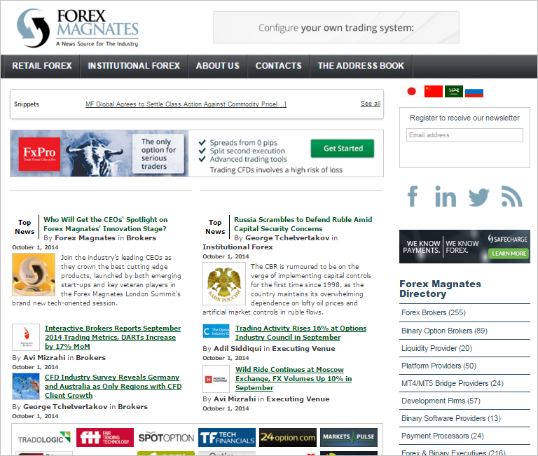Forex Magnates Homepage